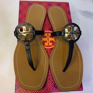 NIB Tory Burch Mini Miller leather thong sandal